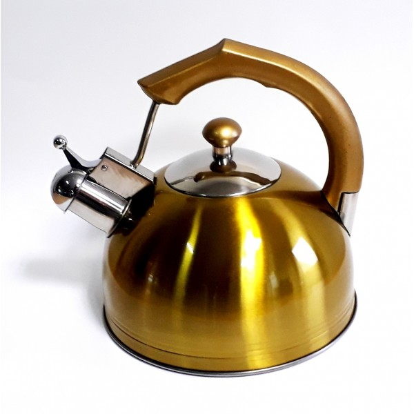 Kettle with whistle induction 2.5L GOLD